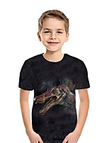 cheap -Kids Boys' Street chic 3D Short Sleeve Tee Black