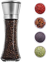 cheap -Manual Salt Pepper Grinder Thickened Glass Pepper Seasoning Jar Stainless Steel