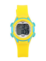 cheap -Kids Sport Watch Automatic self-winding PU Leather Yellow Water Resistant / Waterproof Analog Cartoon Fashion - Yellow