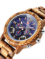 cheap -Sport Watch Quartz Modern Style Stylish Casual Calendar / date / day Wood Analog - Black Red Brown / Noctilucent