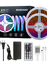 cheap -MASHANG Bright RGB LED Strip Lights 32.8ft 10M RGB Tiktok Lights 1200LEDs SMD 5050 with 44 Keys IR Remote Controller and 100-240V Adapter for Home Bedroom Kitchen TV Back Lights DIY Deco