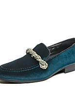 cheap -Men's Summer / Fall Classic / Casual Daily Office & Career Loafers & Slip-Ons Faux Leather Non-slipping Wear Proof Black / Green / Blue