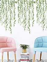 cheap -Hazy Green Leaves Botanical Wall Stickers Plane Wall Stickers Decorative Wall Stickers PVC Home Decoration Wall Decal Wall Decoration 2pcs