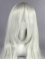 cheap -Cosplay Wig Komugi HxH Straight Cosplay Middle Part With Bangs Wig Very Long Sliver White Synthetic Hair 26 inch Women's Anime Women Best Quality White