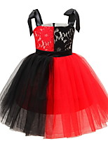 cheap -Kids' Dancewear Tutu Dress Dress Bow(s) Ruching Girls' Training Daily Wear Polyester