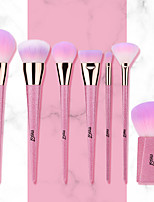 cheap -Professional Makeup Brushes 7 PCS Professional Full Coverage Artificial Fibre Brush Plastic for Blush Brush Foundation Brush Makeup Brush Eyeshadow Brush