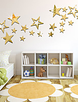 cheap -19PCS Stars Acrylic 3D Mirror Wall Stickers Decorative For Kid