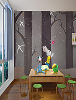 cheap -Art Deco  Home Decoration Custom Self Adhesive Mural Wallpaper Cartoon Tree Children Cartoon Style Suitable For Bedroom Building Material