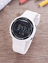 cheap -Unisex Sport Watch Digital Modern Style Sporty Silicone Rubber Black / White / Pink 30 m Water Resistant / Waterproof Calendar / date / day Alarm Clock Digital Casual Outdoor - White Black Blue Two