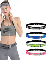 cheap -Running Belt Fanny Pack Belt Pouch / Belt Bag for Running Hiking Outdoor Exercise Traveling Sports Bag Reflective Adjustable Waterproof Tactel Lycra® Men's Women's Running Bag Adults