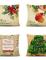 cheap -Set of 4 Christmas Series Festive Pillowcase Car Cushion Cover Linen