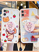 cheap -Ring Holder with Strap TPU Cartoon Protection Cover for Apple iPhone Case 11 Pro Max X XR XS Max 8 Plus 7 Plus SE(2020)