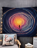 cheap -Home Living Tapestry Wall Hanging Tapestries Wall Blanket Wall Art Wall Decor Multi Cloudy Tapestry Wall Decor
