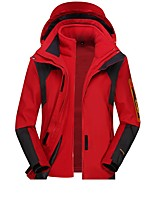 cheap -Wolfcavalry® Women's Hiking Jacket Winter Outdoor Patchwork Waterproof Windproof Fleece Lining Breathable Top Full Length Hidden Zipper Hunting Fishing Climbing Purple / Red / Fuchsia / Blue / Warm