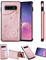 cheap -Case For Samsung Galaxy Samsung Galaxy A50 / Samsung Galaxy A50s / Galaxy A30s Card Holder / with Stand Back Cover Cat PU Leather