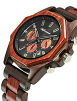 cheap -Men's Sport Watch Japanese Quartz Wood Wooden Analog Fashion Wood - Brown Coffee