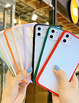 cheap -Candy Color Clear Phone Case For iPhone SE 2020 11 11Pro 11 Pro Max X XS XR XS Max 8Plus 8 7Plus 7 Shockproof Camera Protection Hard PC Back Cover
