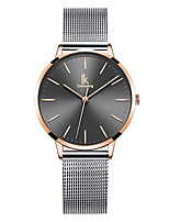 cheap -Women's Quartz Watches Casual Fashion Stainless Steel Quartz Rose Gold Silver+Gray Golden+Black Water Resistant / Waterproof Analog