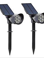 cheap -7LED Spotlights Highlight Spotlight Outdoor Lights Waterproof Garden Lights 2PCS Solar Lawn Lights