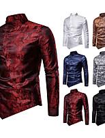 cheap -Plague Doctor Vintage Medieval Renaissance Blouse / Shirt Masquerade Men's Jacquard Costume Golden / White / Black Vintage Cosplay Event / Party Long Sleeve