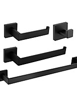 cheap -Towel Bar / Toilet Paper Holder / Robe Hook New Design / Cool Modern Stainless Steel 4pcs - Bathroom Single Wall Mounted