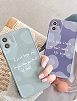 cheap -Case For Apple Shockproof / Pattern Full Body Cases Word / Phrase TPU