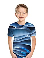 cheap -Kids Boys' Street chic 3D Short Sleeve Tee Blue