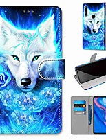 cheap -Case For Huawei P40 Huawei P40 Pro Huawei P40 lite E Wallet Card Holder with Stand Full Body Cases Rose Wolf PU Leather TPU for Huawei Mate 30 Lite Honor 10 Lite Honor 9A