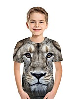 cheap -Kids Boys' Street chic 3D Short Sleeve Tee White