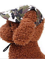 cheap -Dog Cat Hats, Caps & Bandanas Dog Clothes Camouflage Color Leopard Costume Dalmatian Shih Tzu Poodle Fabric Polyester Casual / Sporty Cute S M