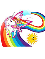 cheap -Unicorn Animals Wall Stickers Plane Wall Stickers Decorative Wall Stickers PVC Home Decoration Wall Decal Wall / Window Decoration 1pc