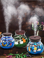 cheap -500ML Hand-made Micro Landscape USB Ultrasonic Air Humidifier Colorful Led Night Light Essential Oil Diffuser Aroma Spray 1pcs