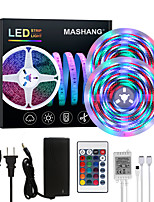 cheap -MASHANG Bright RGBW LED Strip Lights 32.8ft 10M Waterproof RGBW Tiktok Lights 2340LEDs SMD 2835 with 24 Keys IR Remote Controller and 100-240V Adapter for Home Bedroom Kitchen TV Back Lights DIY Deco