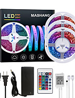 cheap -MASHANG 15M(3*5M) LED Strip Lights RGB Tiktok Lights 900LEDs Flexible Color Change SMD 2835 with 24 Keys IR Remote Controller and 100-240V Adapter for Home Bedroom Kitchen TV Back Lights DIY Deco