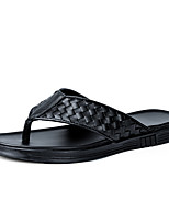 cheap -Men's Spring / Summer Business / Casual Daily Outdoor Sandals Walking Shoes Microfiber Breathable Wear Proof Black