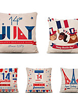 cheap -Set of 5 Home Cushion Cover Bastille Day pillow Sofa Covers 45cmx45cm Bed Printed Pillow Case