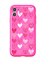 cheap -Case For APPLE  iPhone7 8 7plus 8plus  XR XS XSMAX  X SE  11  11Pro   11ProMax Translucent  Pattern Back Cover Heart TPU
