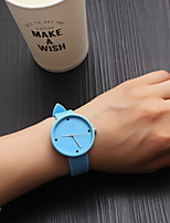 cheap -Women's Quartz Watches Fashion Black Blue PU Leather Chinese Quartz White Black Blue Casual Watch Analog One Year Battery Life