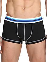 cheap -Men's Basic Boxers Underwear - Normal Low Waist Black Blue Red M L XL