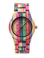 cheap -Unisex Digital Watch Japanese Quartz Stylish Wood Adorable Analog Fashion Colorful - Blushing Pink Orange Green