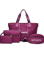 cheap -Women's Zipper PU Leather Bag Set 2020 Letter 4 Pieces Purse Set Black / Blue / Purple / Fall & Winter