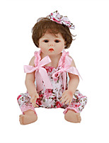 cheap -FeelWind 18 inch Reborn Doll Baby & Toddler Toy Reborn Toddler Doll Baby Girl Gift Cute Lovely Parent-Child Interaction Tipped and Sealed Nails Full Body Silicone LV039 with Clothes and Accessories