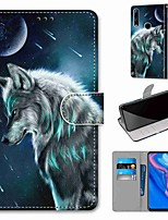 cheap -Case For Huawei P40 Huawei P40 Pro Huawei P40 lite E Wallet Card Holder with Stand Full Body Cases Pensive Wolf PU Leather TPU for Huawei Mate 30 Lite Honor 10 Lite Honor 9A