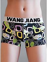 cheap -Men's Print Boxers Underwear - Normal Low Waist White Black Royal Blue M L XL
