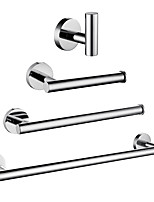 cheap -Bathroom Accessory Set / Towel Bar / Toilet Paper Holder New Design / Creative / Multifunction Contemporary / Modern Stainless Steel / Low-carbon Steel / Metal 4pcs - Bathroom Wall Mounted