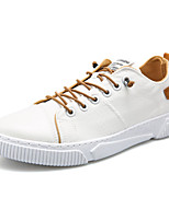 cheap -Men's Summer / Fall Casual / Chinoiserie Daily Outdoor Sneakers PU Breathable Non-slipping White / Brown / Gray