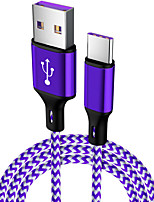 cheap -2Pcs  Cable 5A Supercharge Type C to USB A Quick Charging Fast Charger Nylon Braided Compatible for Huawei Mate 30 Pro P30 P20 Pro P10 Mate 20 Pro Mate20 X Mate 10 Nova 5 Pro Honor 20 long 3.3FT