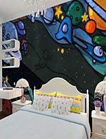 cheap -Custom Self-adhesive Mural Wallpaper Universe Children Cartoon Style Suitable For Bedroom Children's Room School Party Art Deco