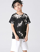 cheap -Kids Boys' Basic Tie Dye Short Sleeve Tee Black