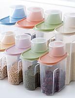 cheap -Transparent Grain Cereal Kitchen Storage Tank 1 Set 4Pcs 2.5L